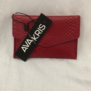 NWT Red material credit card wallet